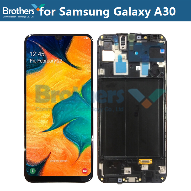 For Samsung Galaxy A30 A305/DS A305F LCD Screen LCD Display with Frame for Samusng A30 Touch Digitizer LCD Assembly Original TopFor Samsung Galaxy A30 A305/DS A305F LCD Screen LCD Display with Frame for Samusng A30 Touch Digitizer LCD Assembly Original Top