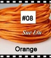 2.5mm 100yds/spool Orange (#08) Rattail Satin Cord Chinese Beading Polyester (similar but not nylon) Cord NCP5