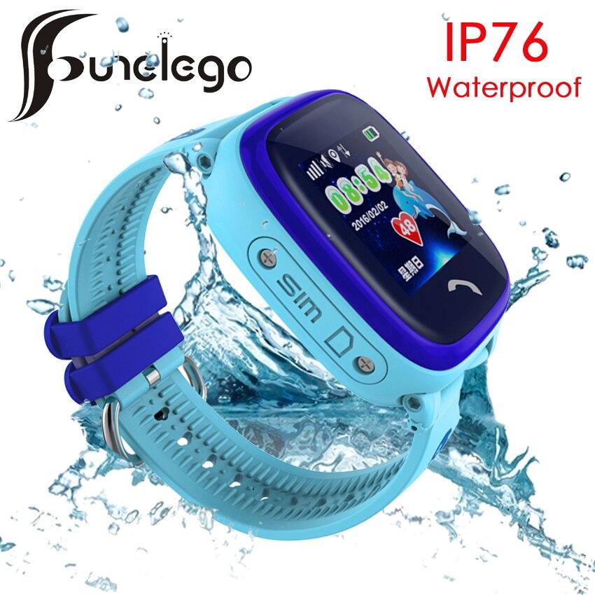 Funelego Waterproof Child GPS Tracker Watch Touch Screen SOS Smart Watch Phone For Kids Deep Water Resistant Swimming SeTracker|smart watch phone|watch phone for kids|watch phone - title=