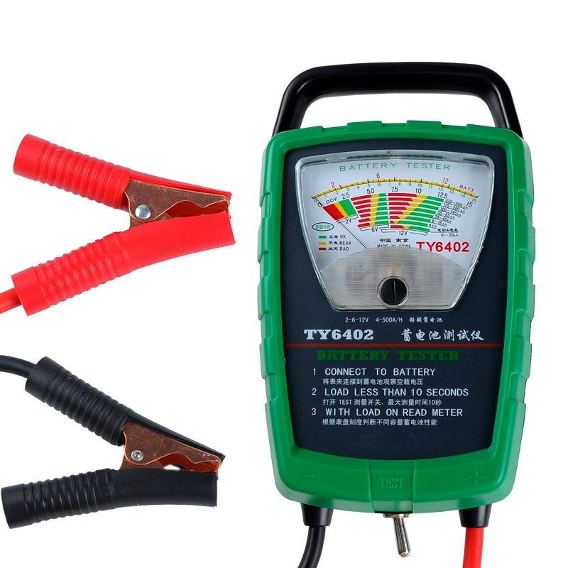 TY6402 500A 2V 6V 12V Automotive/ Car Battery Tester/ Alternator/ Cranking Check Easy to Use цена