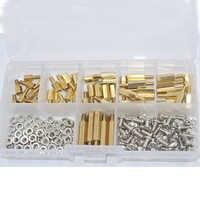 180 pièces/ensemble M3 * L + 6mm écrou hexagonal vis d'espacement en laiton fileté pilier PCB carte mère entretoise Kit