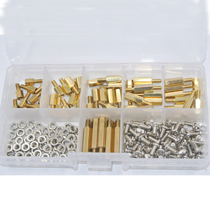 180Pcs/set M3*L+6mm Hex Nut Spacing Screw Brass Threaded Pillar PCB Motherboard Standoff Spacer Kit(China)