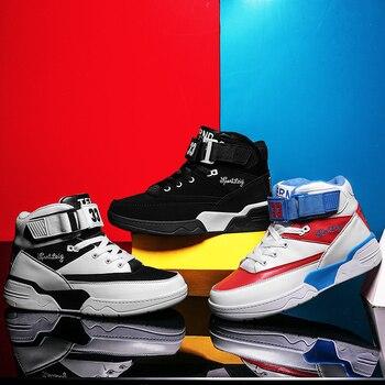 4d563f16 Zapatos casuales para hombre talla grande 45 46 47 48 zapatos de moda para  caminar zapatillas de invierno altos planos tendencia Vulcanize zapatos ...