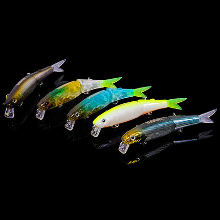 Trulinoya DW43 Two Segments Minnow Fishing Lure Bait 88mm 7.2g Diving 1.2m Artificial Bait Hard Wobbler Fishing Tackle trulinoya carp fishing lure minnow lures bait artificial 88mm 7 2g 3d eyes treble hook hard bait two segments fishing tackle