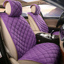 2/5 seats seggiolino Auto copre Inverno breve cuscino peluche accessori Auto interni auto seat covers Russia trasporto libero