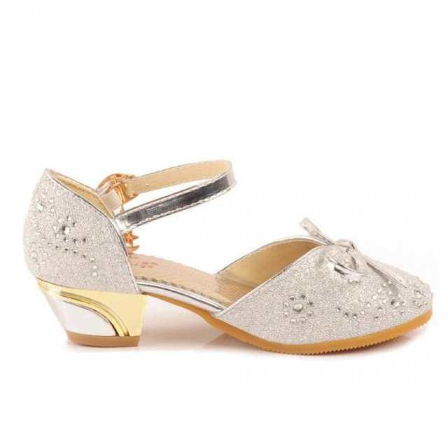 placeholder Kids Girls Glitter Princess Shoes Pink High Heels Sandals Model  Dance Show Weddings Children Fashion Rhinestone 5290d5957894