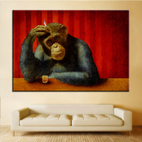 Large Size Printing Oil Painting Monkey Barshe Said Wall Painting Wall Art Decoration Picture For Living