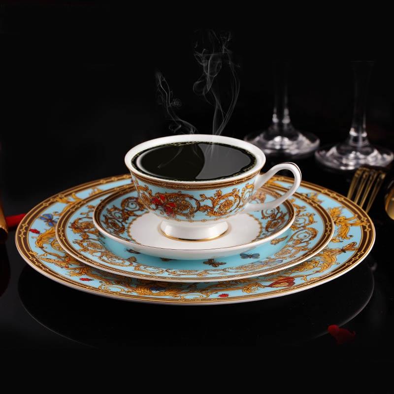 Bone Porcelain Tableware Chinese Luxury England Bone China Dinnerware Set Beautiful Dinner Plates Set With Tea ... & Bone Porcelain Tableware Chinese Luxury England Bone China ...