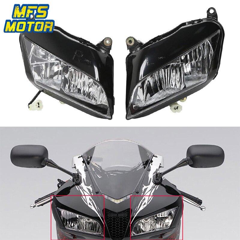 Para Honda F5 07-12 CBR600RR CBR 600 RR Motocicleta Frente Farol Head Light Lâmpada Farol Montagem 2007 2008 2009-2012
