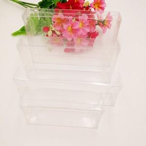 Image 2 - 50 pcs 2 xWxH Caixa De Pvc Transparente Caixas De Plástico Transparente De Armazenamento de Jóias Caixa de Presente de Casamento/Natal/Doces/ partido Para a Caixa de Embalagem do Presente