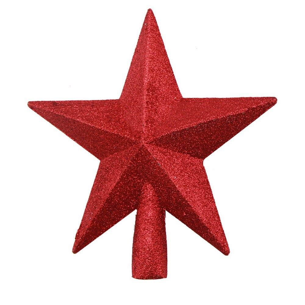 Helder Kerstboom Top Ster Kerst Ster Boom Topper Voor Tafel Kerst Ornament Xmas Decoratieve Party Event Supplies Eerste Kwaliteit