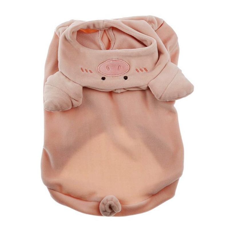 Image 4 - Dog Hoodies 2019 Pet Puppy Dog Clothes Pig Cosplay Costumes Clothing For Small Large Dog Cat French Bulldog Pug Pets Coat Pink L-in Dog Hoodies from Home & Garden