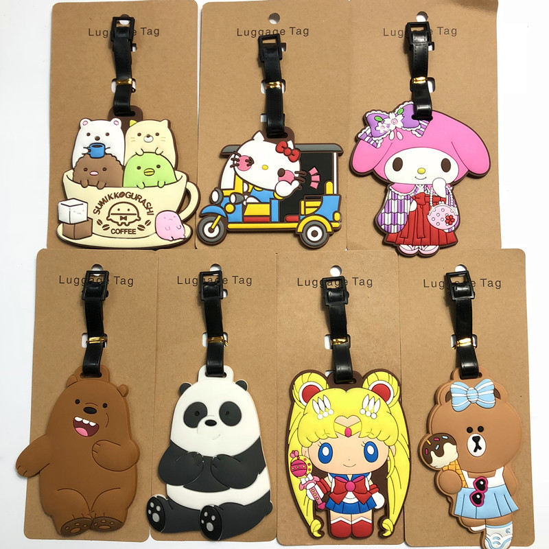 2018 New Limited Mala Anime Cartoon Luggage Tag Peripheral Sailor Moon Corner Biological Garfield Bear Travel Pendant Wholesale