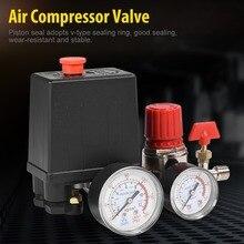 ضاغط الهواء صمام ضاغط هواء صغير مفتاح ضغط صمام التحكم منظم مع قياس منظم الهواء صمام tapones valvula