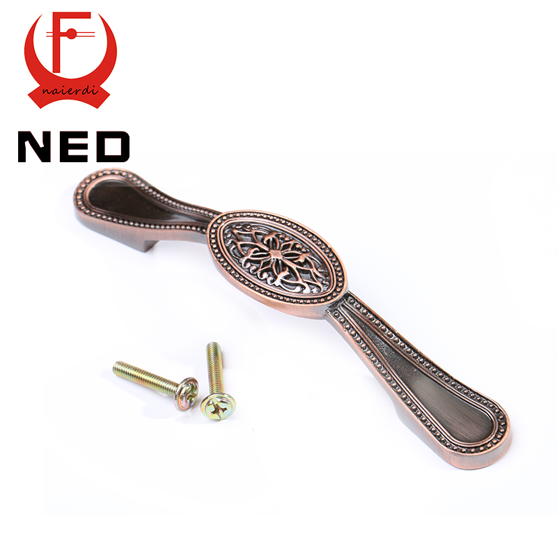 Ned 155mm retro red bronze kitchen handles door cupboard - Red kitchen cabinet knobs ...