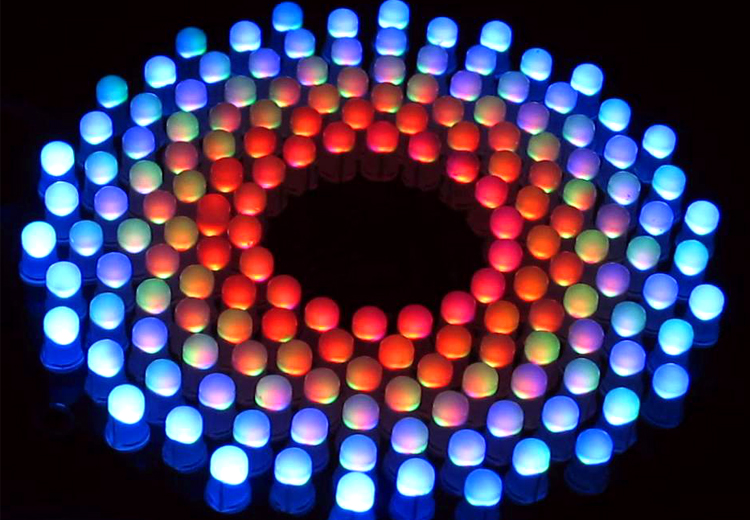 Купить с кэшбэком Colorful RGB LED Music Spectrum Flashing suite Fantastic9X18 Aurora DIY Kit STC MCU Control Gift