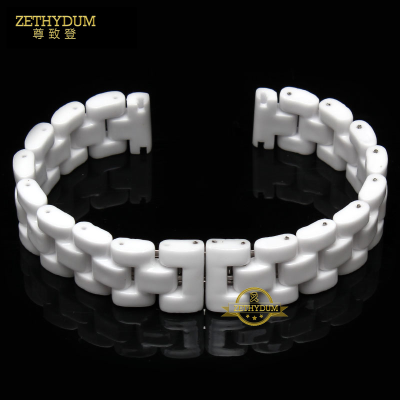 Ceramic watchband white watch strap 14mm 16mm 18mm women wristband wristwatches band waterproof Not allergic bracelet