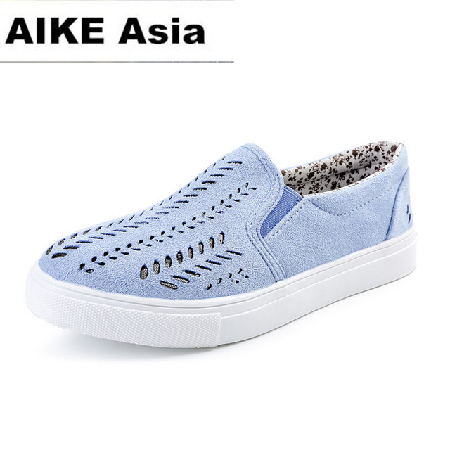 2018 Flat Shoes Women Breathable Women Sneakers Footwear High Quality  Women Flats Casual Shoes Slipony Large size 35-42 Hollow