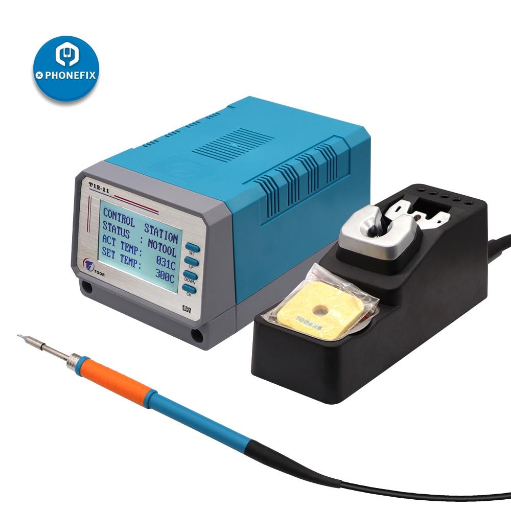 PHONEFIX LEISTO T12-11 Lead Free Soldering Iron Motherboard PCB Soldering Repair Tool For Mobile Phone Motherboard Repair