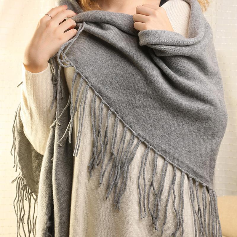Imported Lightweight Neckwear Blanket Wrap Winter Shawl Black Marble Texture Scarfs