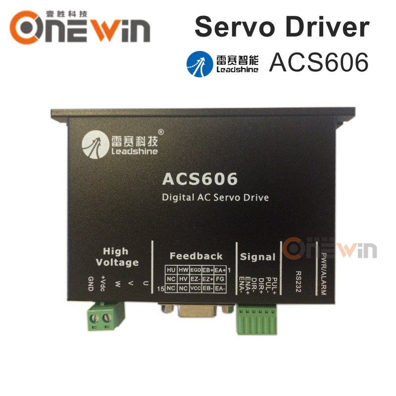 Leadshine servo driver ACS606 3 phase 24-60VDC AC simple and brushless driver can push 50W-200W BLM servo motor free dhl used 3 phase cr06550 ac servo motor driver leadshine vs a4988 stepper motor driver module ems