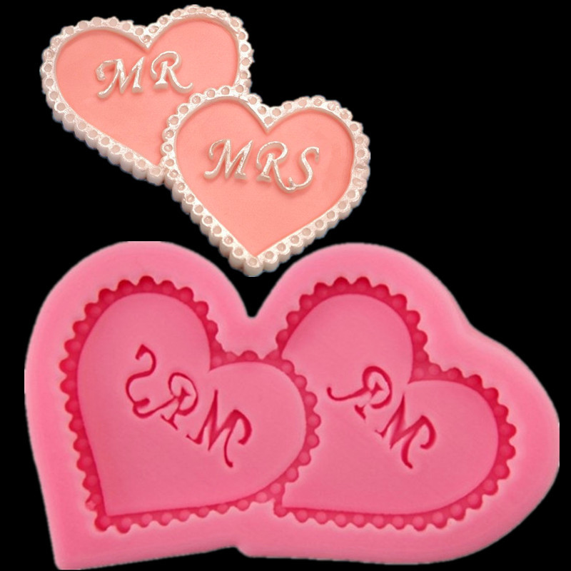 Luyou 1 PCS Hearts Design Silicone Fondant Chocolate Mould for Cake Decorating Tools საშობაო სილიკონის MOLD FM138