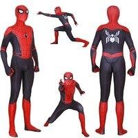 Adult Kids Spider Man Far From Home Peter Parker Cosplay Costume Zentai Spiderman Superhero Bodysuit Suit Jumpsuits