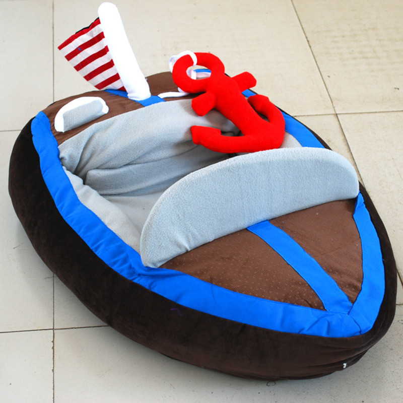 Petminru mode chaud chien maison Pet lit canapés Yacht forme chien chat lits doux animaux tapis chiot chenil fournitures pour animaux de compagnie