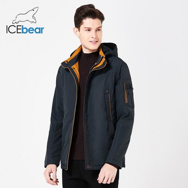 ICEbear 2019 New Large Size high quality spring jacket Men Fashion Jackets Parka Spring Casual Brand Warm Coat B17MC853D