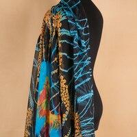 מעצב 100% בד שיפון משי מודפס חצאית שמלת תות טבעי טהור חומר width140cm