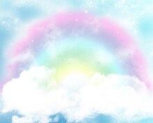 HUAYI Photography Backdrop Vinyl Photobooth Background Vintage Rainbow clouds birthday party Customized photo backdrops XT-3828 huayi trojan horse photography backdrop scenery custom photo portrait studios birthday background cartoon backdrop xt4853