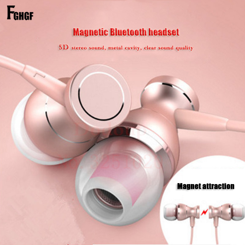 Magnetism Earphone Sport Headphone Super Bass Stereo Jack Headset For iPhone Hands Free Headphones with Mic Music For Xiaomi headphones stereo headset headphone brand new 3 5mm earphone with volume