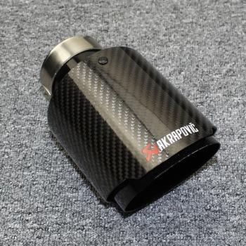 Aksesoris Mobil Akrapovic Knalpot Pipa Dekoratif Stainless Steel Carbon Fiber Glossy Muffler Hitam Pipa Knalpot Ekor Tenggorokan