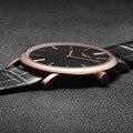 Super Slim Мужские Часы Моды Случайные GUANQIN Марка Кожаный Ремешок Водонепроницаемый Кварцевые часы мужские Стильные Стиль Relojes Hombre 2016