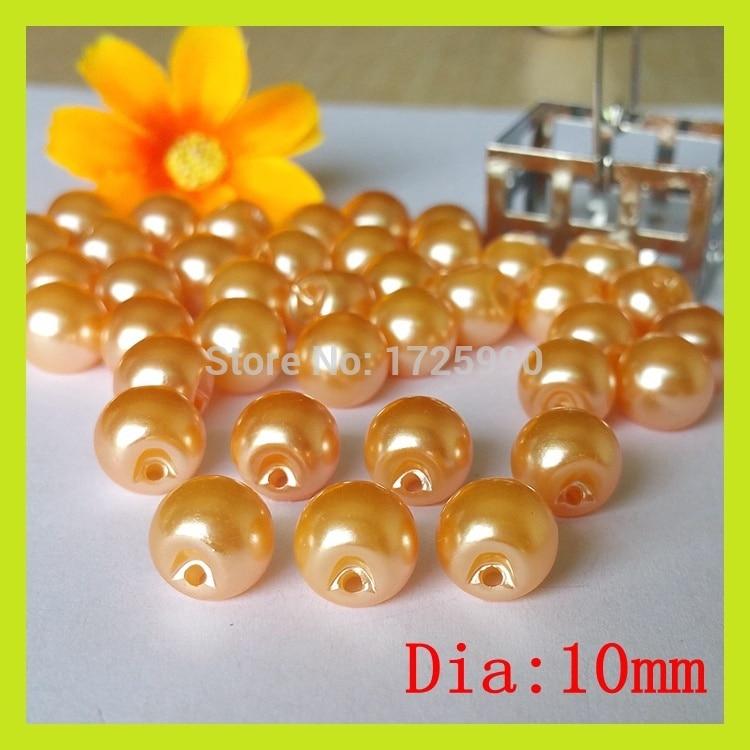 200 Pcs/lot Orange side hole pearl buttons chiffon shirt sweater children buckle decorative buckle Scrapbooking Accessories