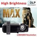 Проектор 7500 люмен 3D DLP Мини Портативный Открытый Проекторы 1280x800 Смарт-Видео Проектор хорошее для Наружной Рекламы в Дневное Время