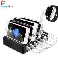 CinkeyPro שולחנות מטען USB 6 יציאות עם עבור אפל צפה מזח Samsung iPhone iPad אוניברסלי טעינת 5 V/10A טעינה מחזיק