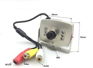 Image 4 - CCTV HD 1000TVL Lens 2.8mm Audio Video MIC Color IR Analog Car MINI Camera