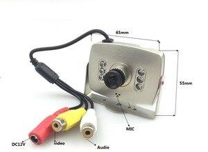 Image 4 - CCTV Lente de 2.8mm de Áudio e Vídeo HD 1000TVL Cor MIC Analógico IR MINI Câmera Do Carro