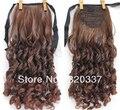 Модные ленты хвост волосы хвост наращивание стильный вьющиеся конский хвост наращивание волос для женщин # 4/30 рыжий