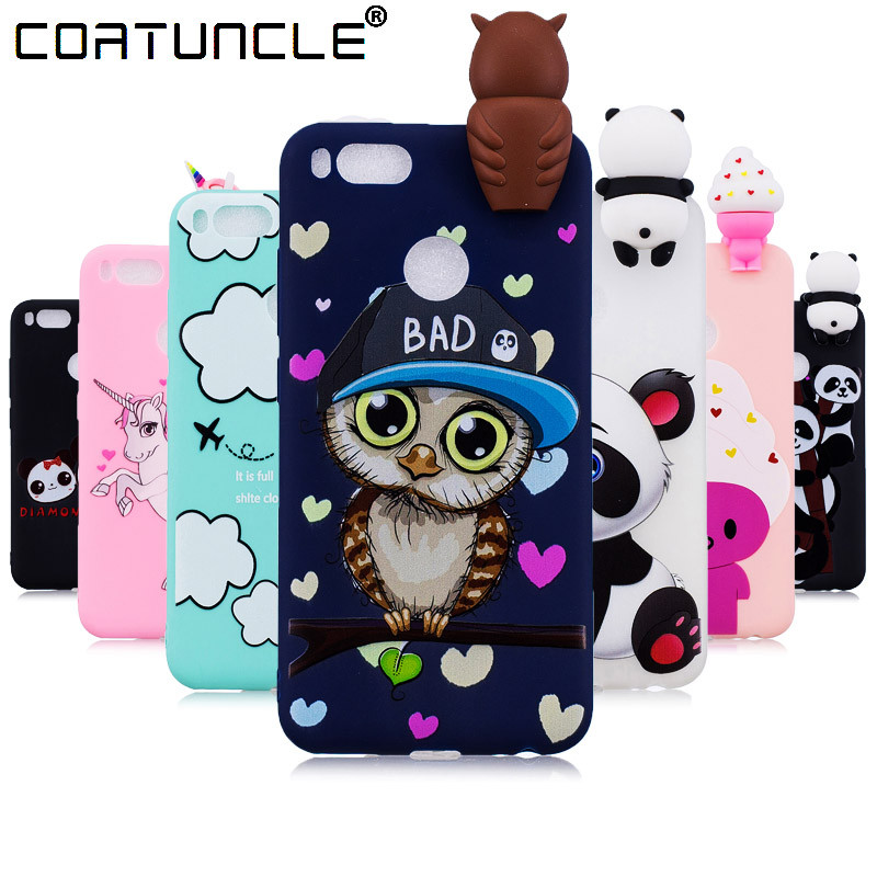 Coatuncle Phone Cases For Fundas Xiaomi Mi 5x Case Soft Tpu Candy Color Panda Cartoon Back Cover For Coque Xiaomi Mi A1 Case To Ensure Smooth Transmission