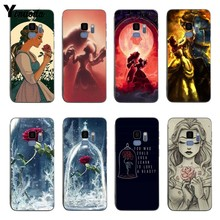 Yinuoda Beauty Girl and Beast Rose Soft silicone coque Cover case For samsung S6 S7 S8 s8plus s9plus S6edge S7edge Note8 9
