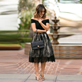 New Arrival Exquisite Lace Skirt Custom Made Classical Simple A Line Tulle Skirt Fashion Black Lace Skirts Women