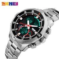 SKMEI Luxury Brand Men Double Time Quartz Watches Multifunction Military Digital Sports Watch 30m Waterproof Wristwatch