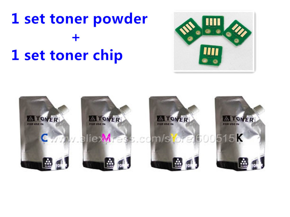ФОТО Compatible color toner powde Konica Minolta MagiColor 1600W 1650EN 1680MF 1690MF 45g/bag 4pcs and 4pcs chip