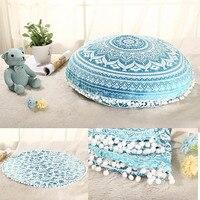 New Retro Geometry Design Indian Mandala Floor Pillows Round Bohemian Cushion Cover Sofa Outdoor Throw Pillows