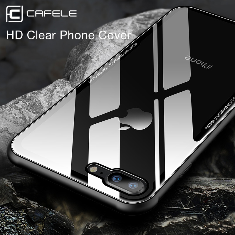 Cafele Glass Case for iPhone XR XS MAX Luxury Tempered Glass Cover for iPhone XR Xs MAX Anti Scratch HD Clear 9H Hardness in Half wrapped Cases from Cellphones Telecommunications