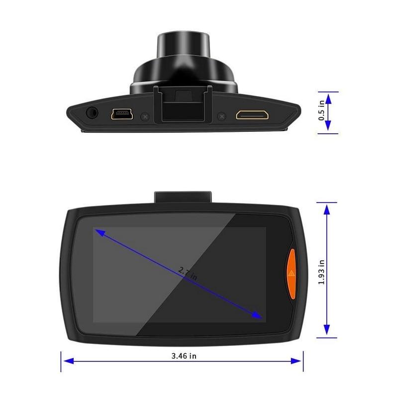 Image 2 - 6 IR светодиодный 1080 P Автомобильный видеорегистратор камера видеорегистратор Автомобильный видеорегистратор 2,7 дюймов ночного видения видеорегистратор для автомобиля-in Видеорегистратор from Автомобили и мотоциклы