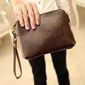 2017 Men Crazy Horse Leather Cross Body Messenger Shoulder Pack Clutch Bag Handbag Wallet Purse Portable Wrist Bag