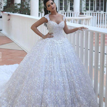Sparkly Crystal Top Sexy Ball Gown Women Bridal 2017 Luxury Puffy Pricess China Wedding Dresses Royal Train Custom Floral White